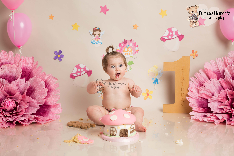 Beautiful fairy theme for baby girls Cake Smash in Carmarthen