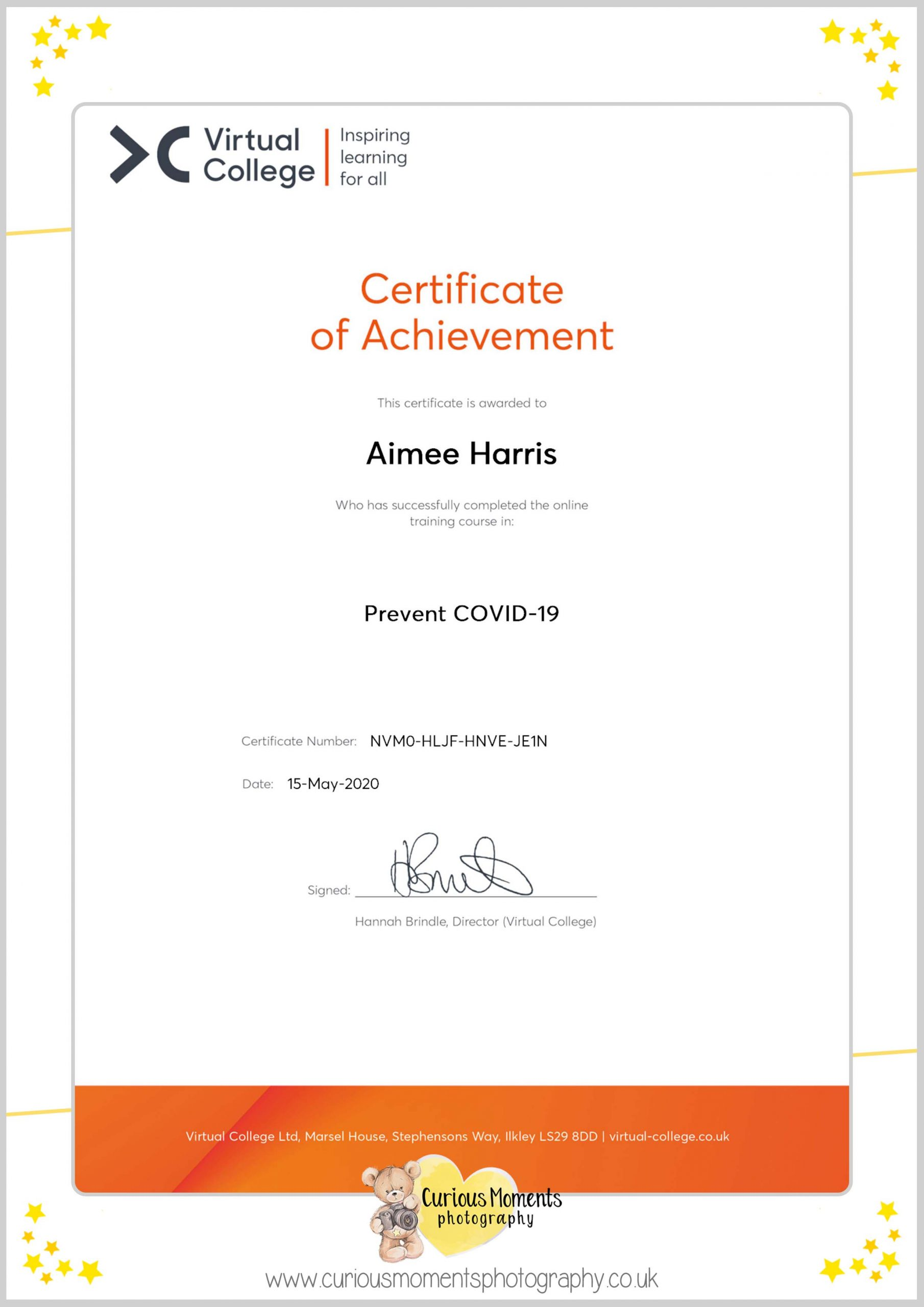 Covid safety certifcate