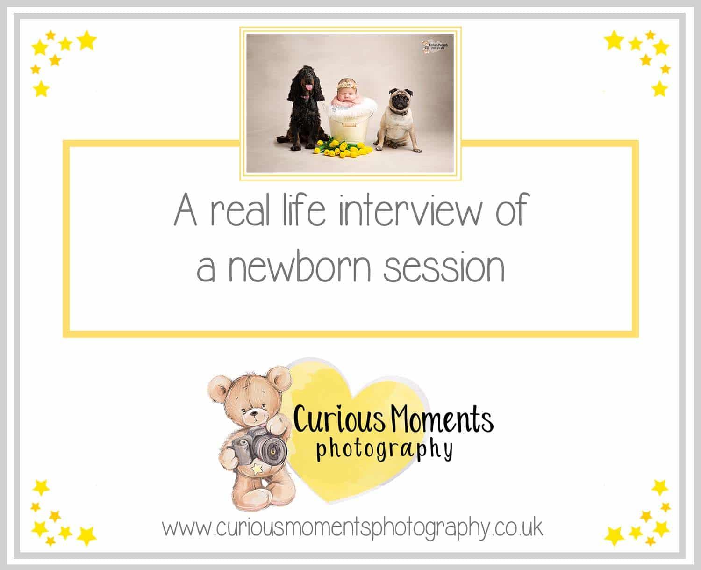 Interview of Newborn Photo Shoot of Photographer Carmarthen