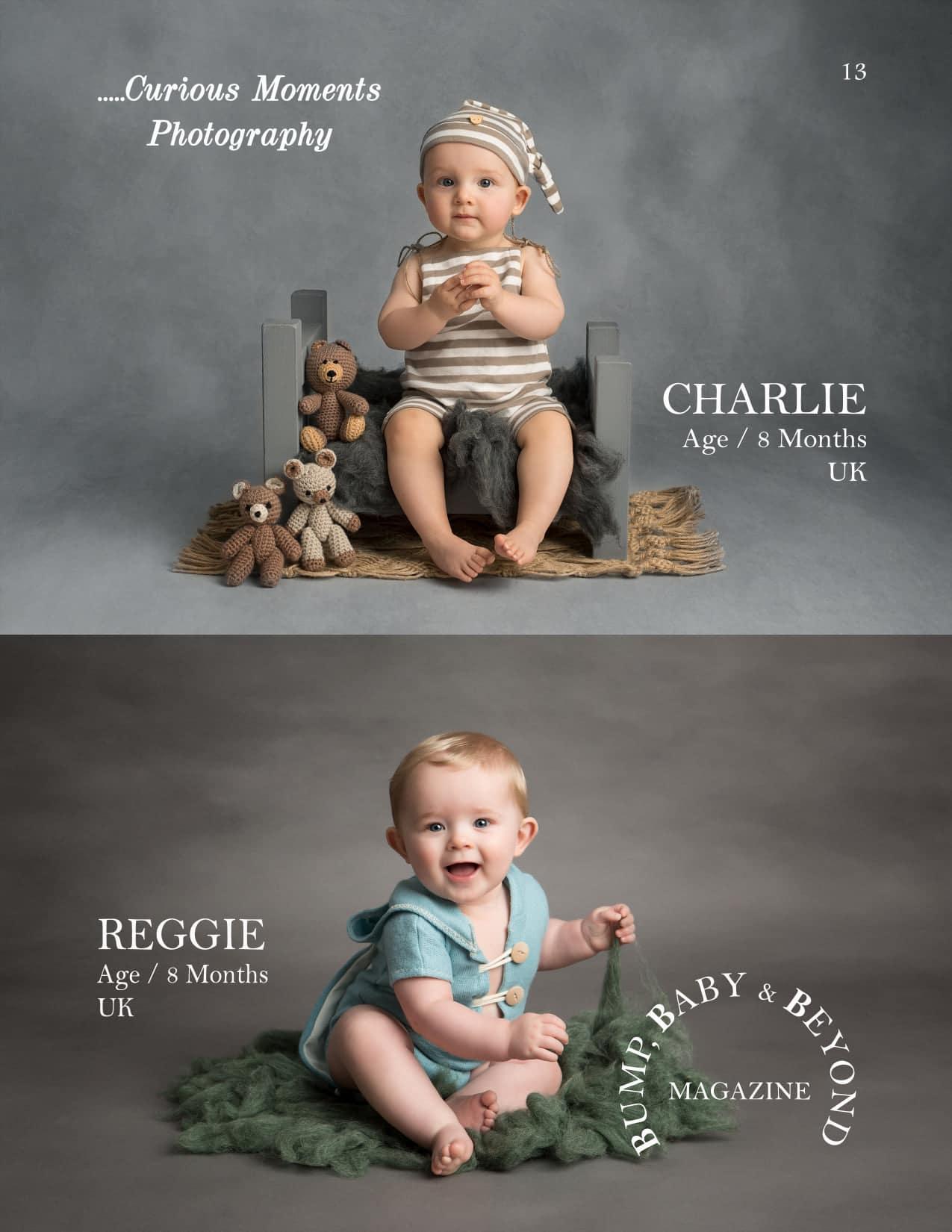 published baby photograph of carmarthen photographer in international magazine
