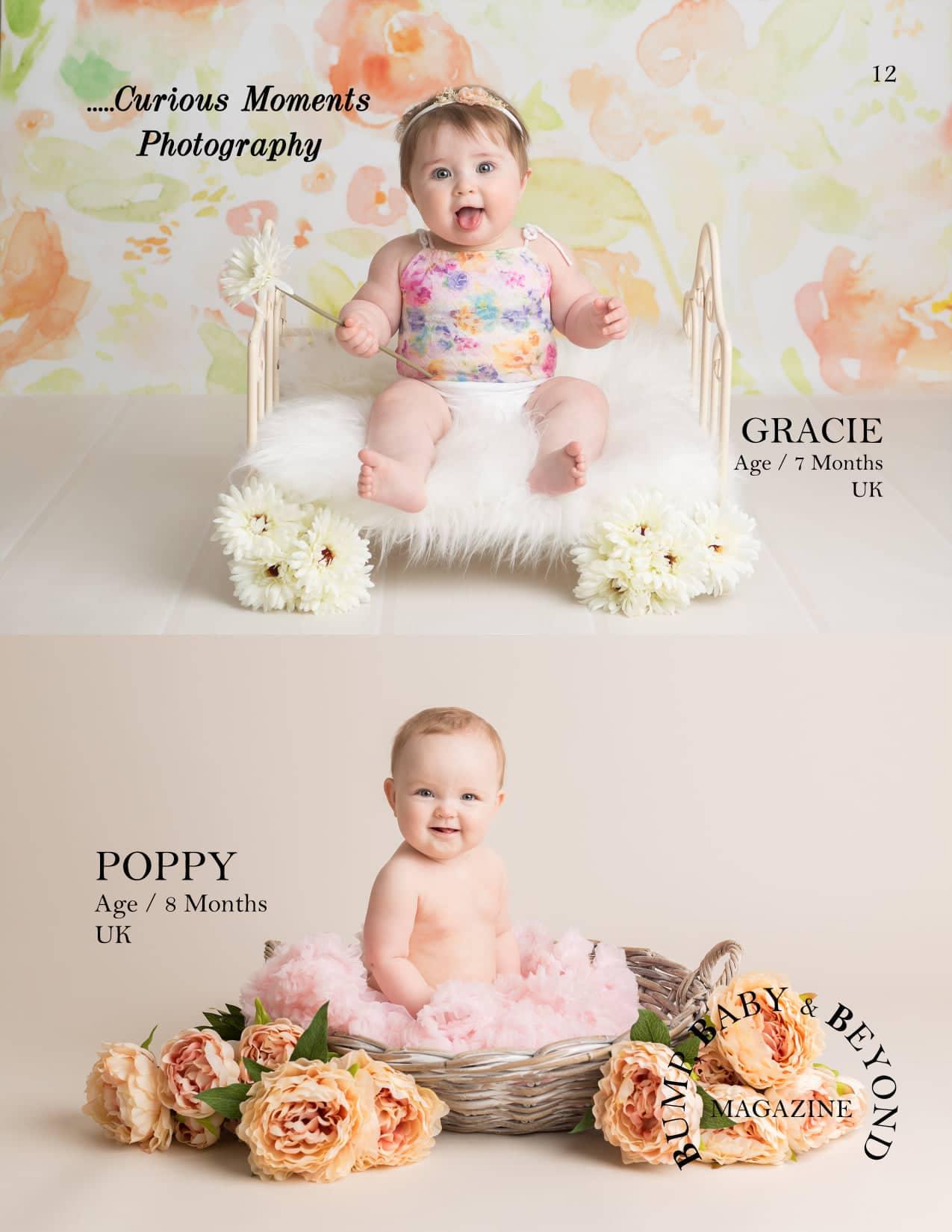 published baby photograph of carmarthen photographer in international magazine Magazine Featured Baby Photographer
