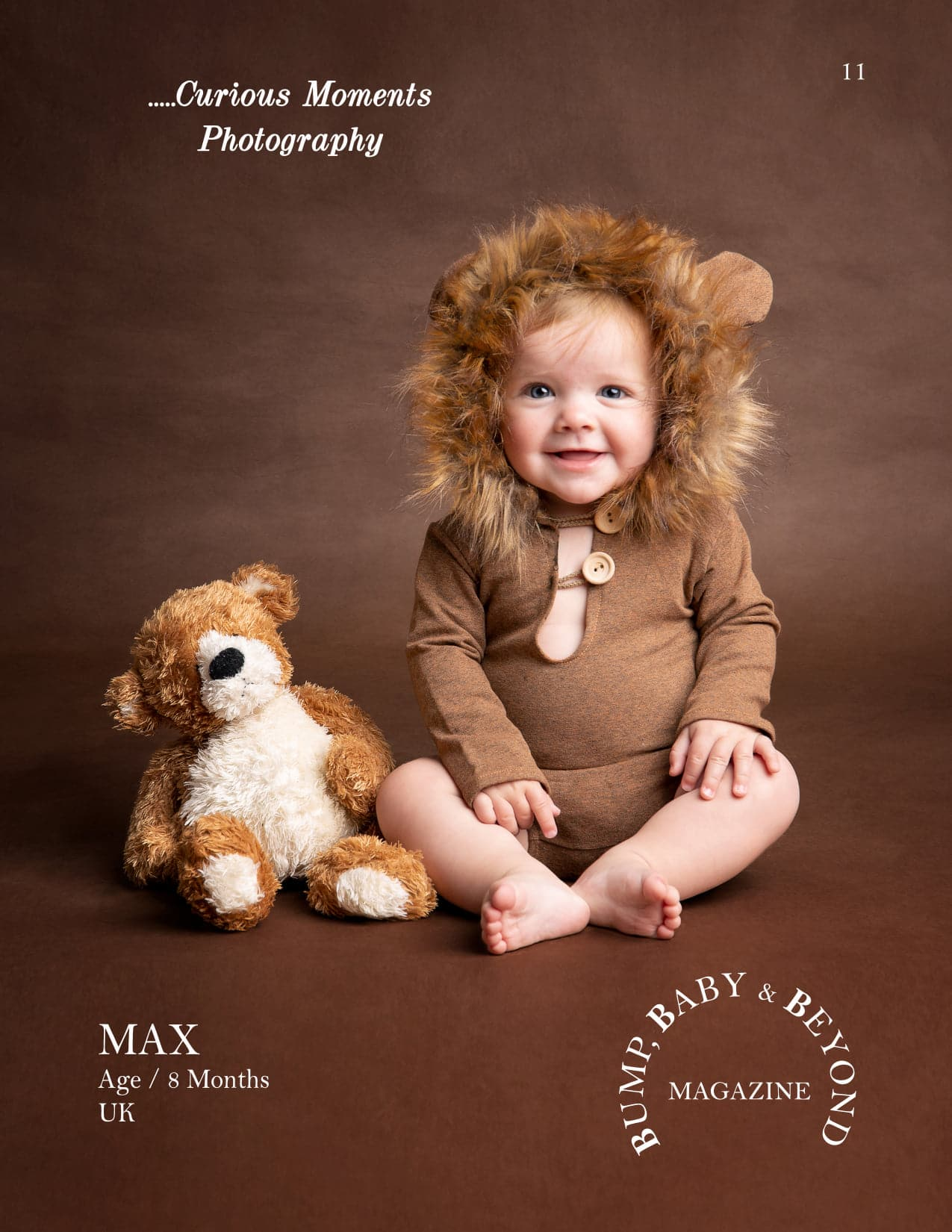 published baby photograph of carmarthen photographer in international magazineMagazine Featured Baby Photographer