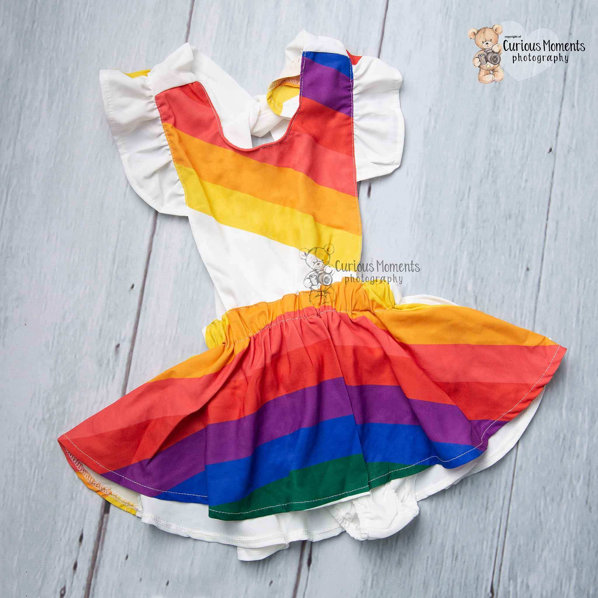 Rainbow sundress for cake smash tenby